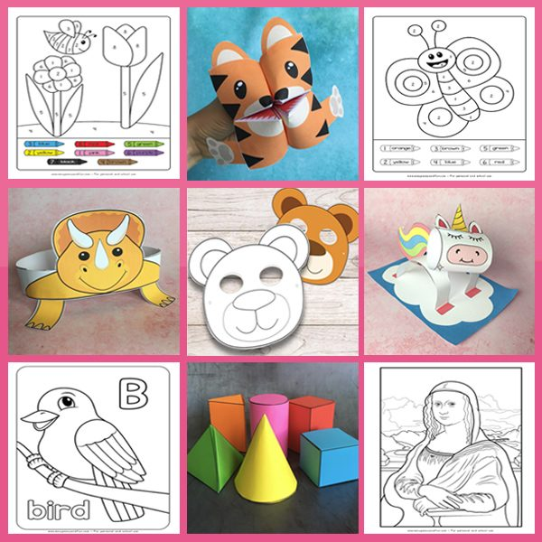 Tons of amazing and easy activities for kids. Simple craft templates for kids to use as well as a whole bunch of learning printables.