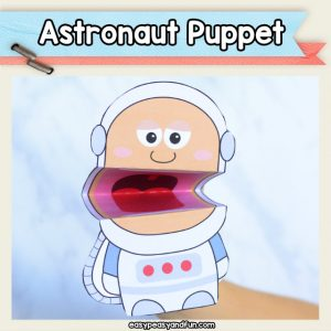 Astronaut puppet - space crafts for kids