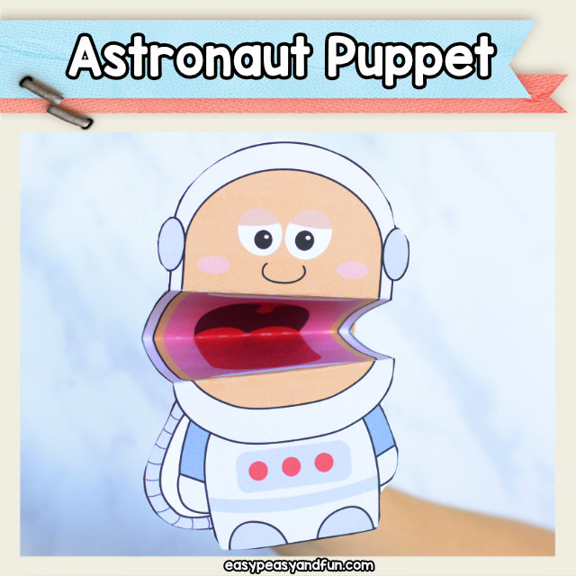photo regarding Astronaut Printable named Astronaut Puppet Printable Simple Peasy and Exciting Subscription