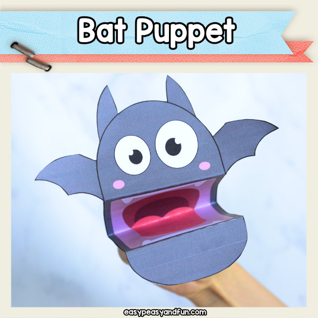 Bat Puppet - this fun Halloween craft for kids is great for classroom Halloween parties