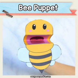 Bee Puppet - easy bee craft for kids