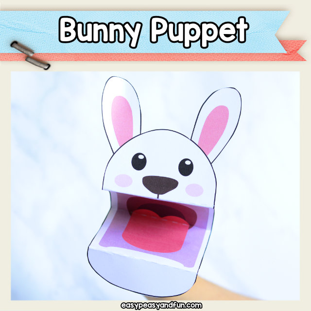 Bunny Puppet - this cute bunny craft is certainly a fun Easter craft idea for kids to make