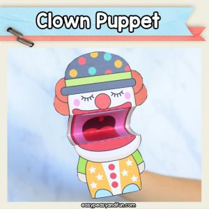 Clown Puppet - the cutest clown craft you can make with your kids