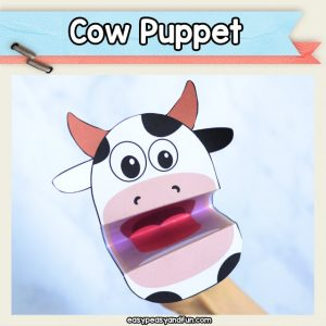 Cow Puppet - printable craft template
