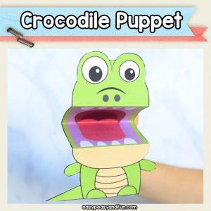 Crocodile Puppet printable template