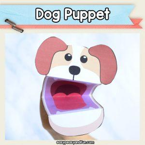 Dog Puppet - easy dog craft for kids