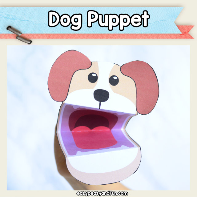 Dog Puppet - easy dog craft for kids