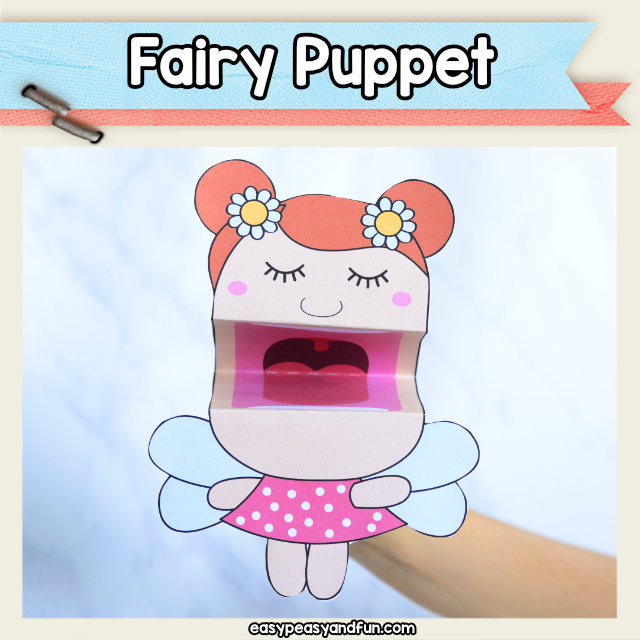 Fairy Puppet - if your kids love fairy tales or fairies they are going to love to play with this printable template. The coolest little fairy craft idea.