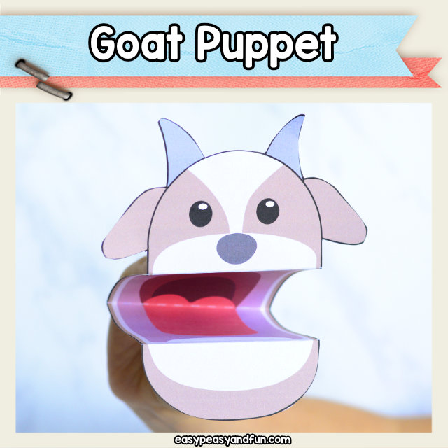 Goat Puppet Printable Craft Template