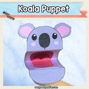 Koala Puppet - koala crafts for kids