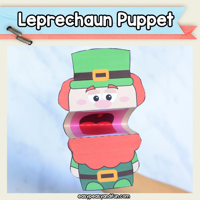 Leprechaun Puppet - fun st. Patrick's day craft for kids to make
