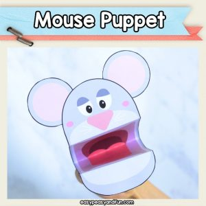 Printable Mouse Puppet Template