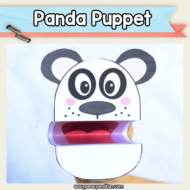 Panda Puppet - easy panda bear craft