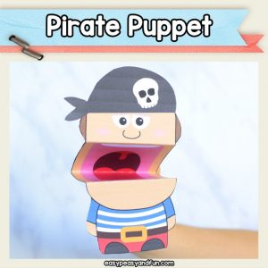 Pirate Puppet - pirate craft for kids perfect for Talk Like a Pirate Day