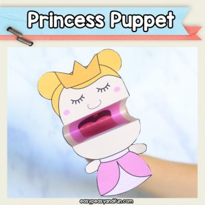 Princess Puppet Printable Template