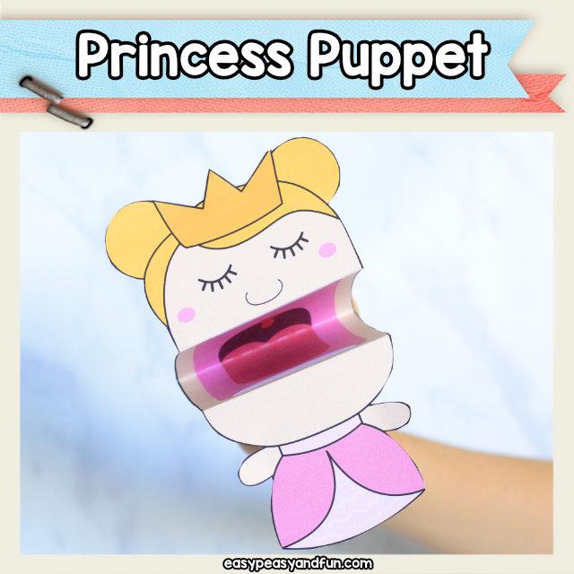 Princess Puppet Printable Template
