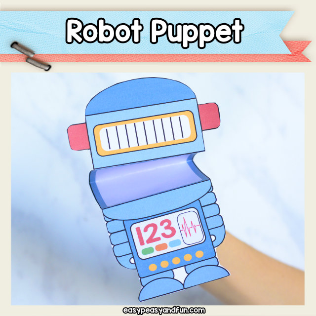 Robot Puppet - great robot craft for kids to make