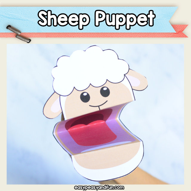 Sheep Puppet - cute little sheep craft for kids to make