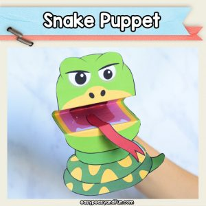 Snake Puppet - printable snake paper toy. this is a really cool craft to make with your kids