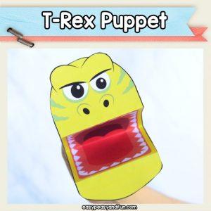 T-Rex puppet - dinosaur craft idea for kids