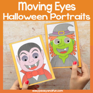 Halloween Monsters Moving Eyes Portraits