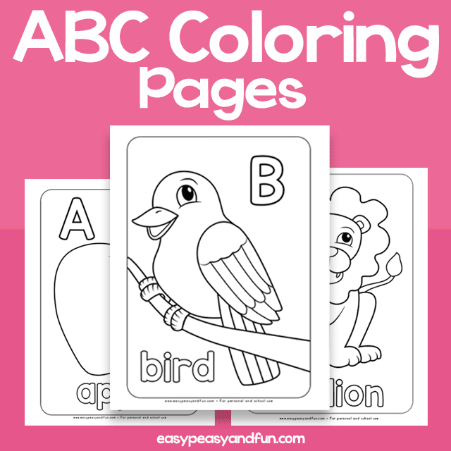 Alphabet Coloring Pages Easy