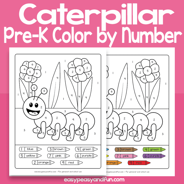 Caterpillar Color by Number