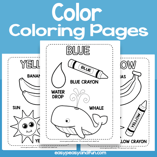 Color Coloring Pages Learning Colors Easy Peasy And Fun Membership