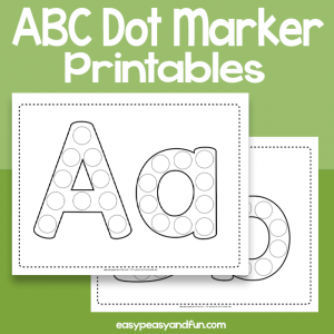 Alphabet dot Marker Printables