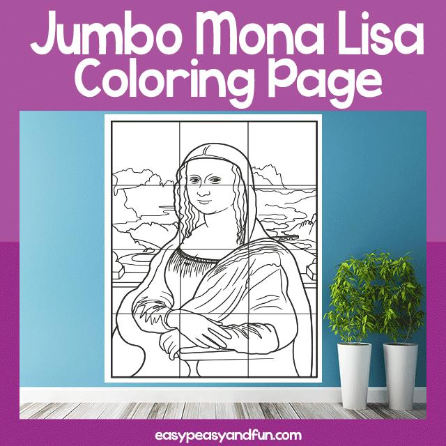 Jumbo Mona Lisa Coloring Page