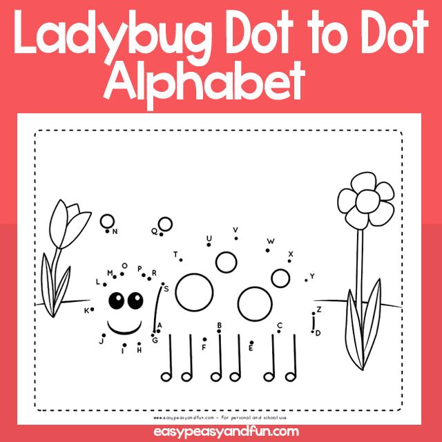 Ladybug Dot to Dot Alphabet