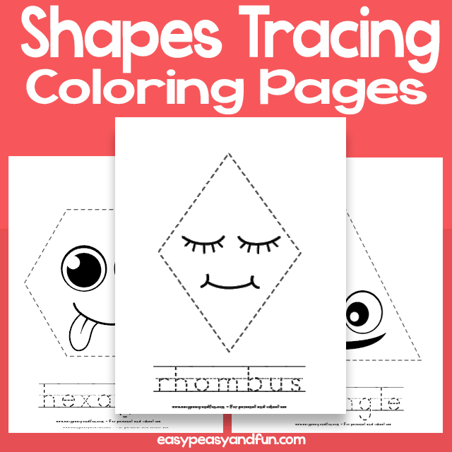 Shapes Tracing Coloring Pages Easy Peasy And Fun Membership