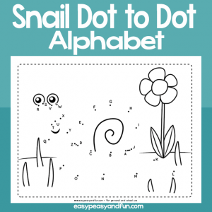 Snail dot to dot alphabet