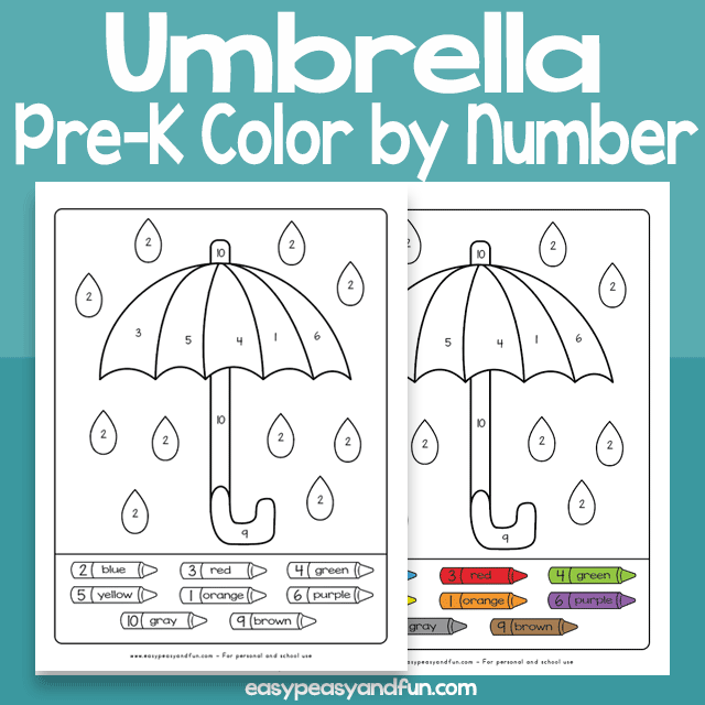 Umbrella Color by Number