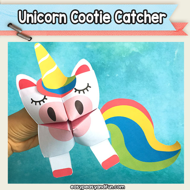 Unicorn Cootie Catcher