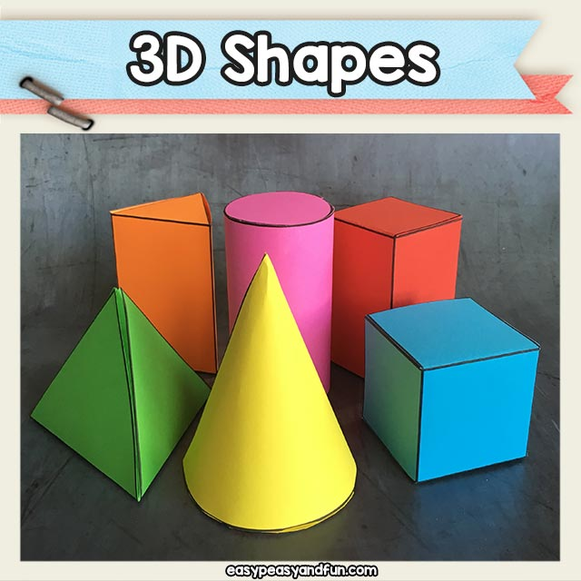 Printable 3D Shapes Template