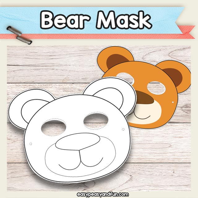 picture regarding Printable Bear Mask named Printable Undertake Mask Template Uncomplicated Peasy and Entertaining Subscription