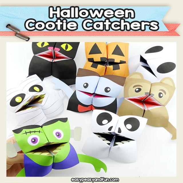 Halloween Cootie Catchers