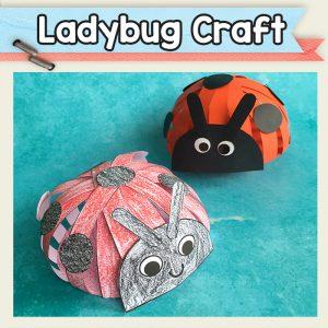 Paper Strips Ladybug Craft Template