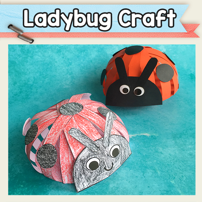 Paper Strips Ladybug Craft Template