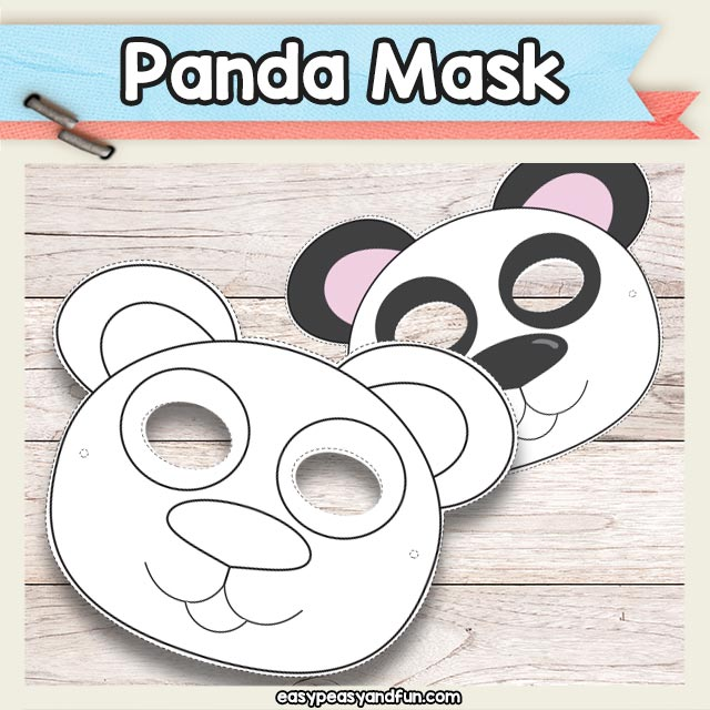 Printable Panda Bear Mask
