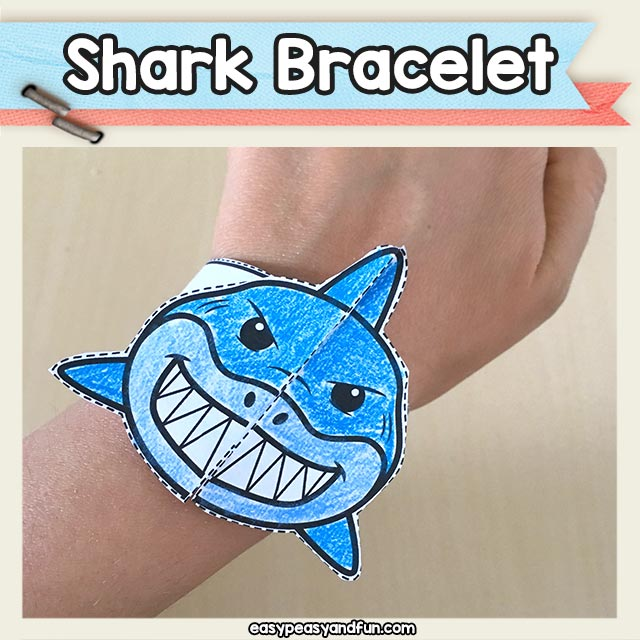 Shark Bracelet Printable Template