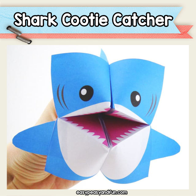 Shark Fortune Teller Cootie Catcher Origami Puppets Easy Peasy