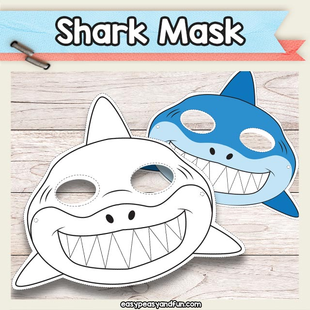 Printable Shark Mask Template
