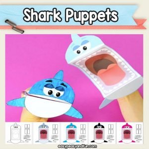 Printable Shark Puppets (and killer whale)