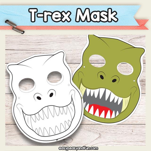 Printable T-Rex Dinosaur Mask