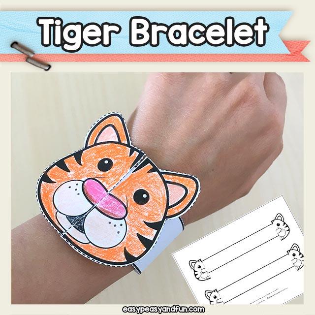 Printable Tiger Paper Bracelet