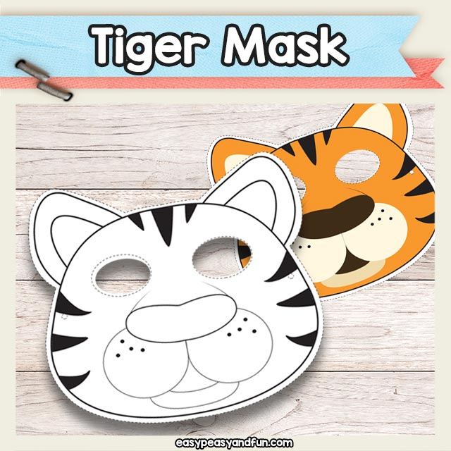 Printable Tiger Mask