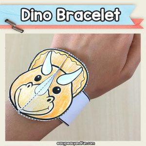 Triceratops Bracelet - Printable Dinosaur Bracelet