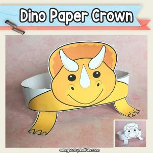 Triceratops Paper Crown - Dinosaur Paper Hat